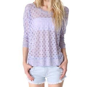 Madewell burnout sweater purple dot